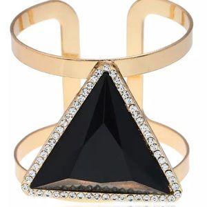 Black Triangle Metal Cuff